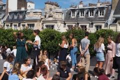 Repas détente sur la terrasse - Espace Vauplane - rentrée 2019 - Centre Laennec Paris - Prépa médecine - © Ignazio TORRES