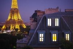 Tour Eiffel - Vue depuis la terrasse de nuit - rentrée 2019 - Centre Laennec Paris - Prépa médecine - © Ignazio TORRES
